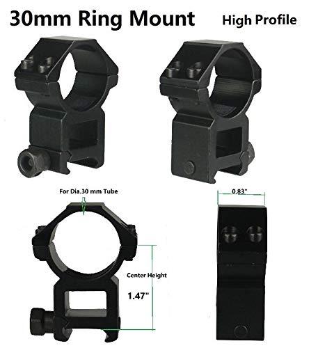 GOTICAL 30mm Scope Rings High Profile 30 mm Scope Mounts Hunting Gun Accessories 2021mm PicatinnyWeaver Rail Rifle Scope Mount Rings 2 Piece Scope Mounts