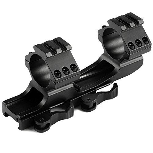 MIZUGIWA 1inch 30mm Quick Release Cantilever Weaver Forward Reach Dual Ring Rifle Scope Mount