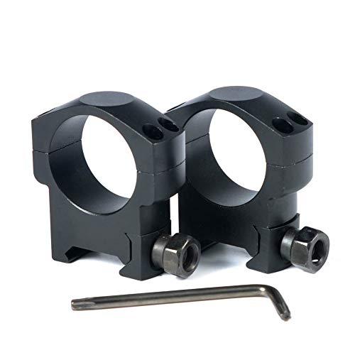 WOLTIS Weaver Scope Rings Mount - Weaver 30mm Scope Rings Medium ProfileTactical Riflescope Rings Mount for Weaver Rail2packAluminum