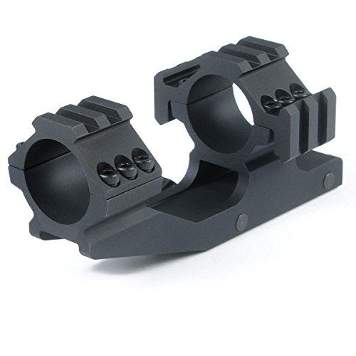 1 inch Dual Ring Cantilever Scope Mount Black TRI Mount for Lasers Flashlights Nikon Leupold Vortex Burris