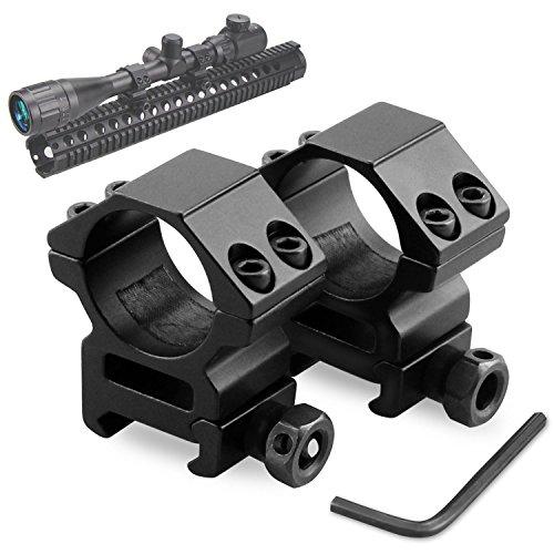 Rifle Scope Rings Modkin Low Profile Scope Mounts for PicatinnyWeaver Rail 1 inch Set of 2