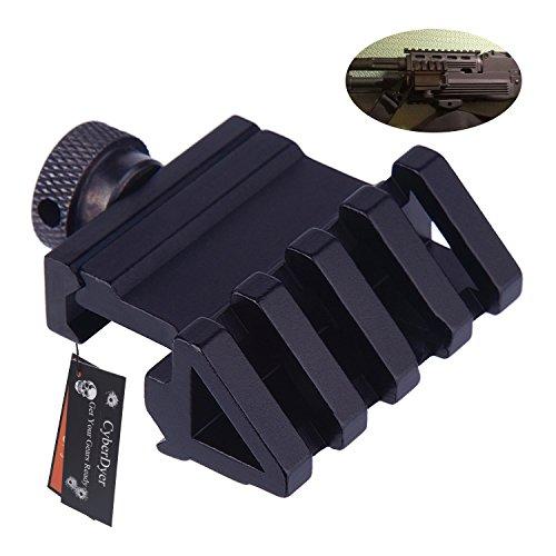 CyberDyer 45 Degree Angle Offset 5 Slot Side Rail Mount Flashlight Adapter 20mm Weaver Picatinny Rail Mount