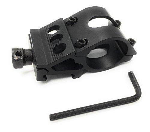 Dagger Defense offset picatinny rail mount for flashlight scope or laser 25mm