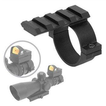 Ade Advanced Optics 1 Scope Ring Adaptor with Picatinnyweaveruniversal Rail