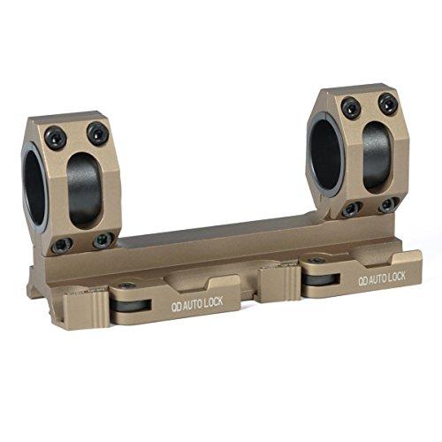 GBO - QD -DE  Scope Rings Mount Top Rail 30mm - 1 inch Ring Tactical Recon for Burris Nikon Leupold Vortex UTG Black