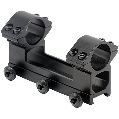 Aimfiree 254mm 1 Dual Ring See-through Picatinny 20mm Weaver Rail Scope Mount One Piece
