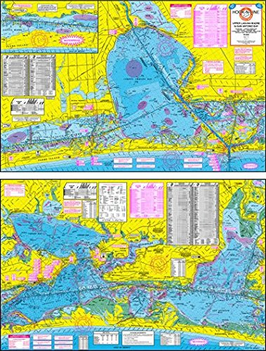 Topographical Fishing Map of Upper Laguna Madre - With GPS Hotspots