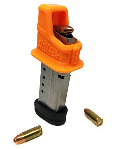 Hilljak S&W M&P Shield 908 3913 3914 3953 9mm Single-Stack Magazine Loader Orange