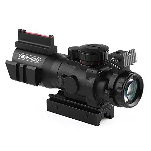 VERY100 4x32mm illuminate rifle scope sights and fiber red green dot eye sights 21 mm11mm