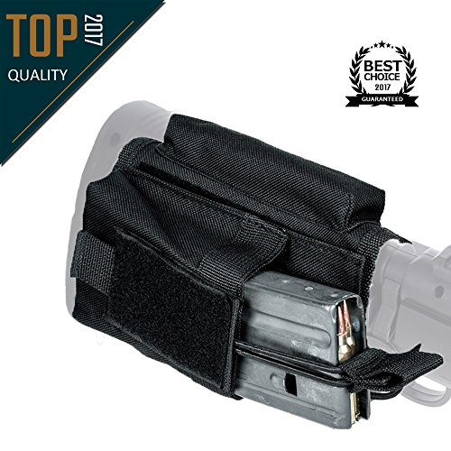 Hojan Outdoor Sports Advanced Mag Pouch Mag Holder With Stock Adapter Stock Riser Shooting Accessories Black
