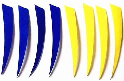GPP 36PK 5 Shield RW Feathers Blue Yellow Archery Arrow Fletching - for 1 DZ Arrows