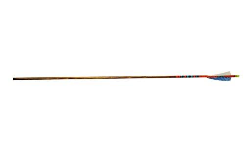 Rose City Archery Port Orford Cedar Fancy Arrows with Orange Crown DipWalnut Stain Shaft 4 Shield Fletch 12 Pack