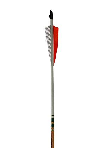 Rose City Archery Port Orford Cedar Hunter Elite Arrows with 4-Inch Length Shield Cut Fletch 12-Pack