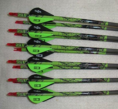 Gold Tip XT Hunter 5575400 Carbon Arrows wBlazer Vanes Blaze Wraps 1Dz