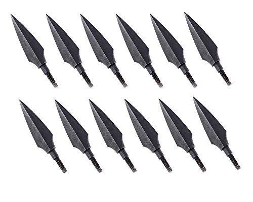 Huntingdoor 12pcs Screw-In Broadheads 150 Grain Traditional Hunting Arrow Head For DIY Flying Arrow Archery