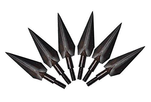 Albertu 6Pcs Black Archery Broadheads Unification Screw-in 150 Grain Arrowheads for Hunting Arrows