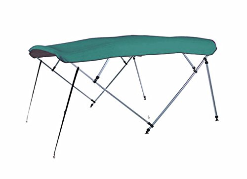 7oz TEAL 4 BOW SQUARE TUBE BOAT BIMINI TOP without running light cutout SUNSHADE TOP FOR PLAYBUOY KINGFISHER 18 ANGLERFISH 2002-2004