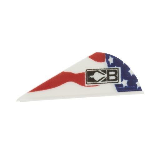 Bohning American Flag Blazer Vane 36 Pack