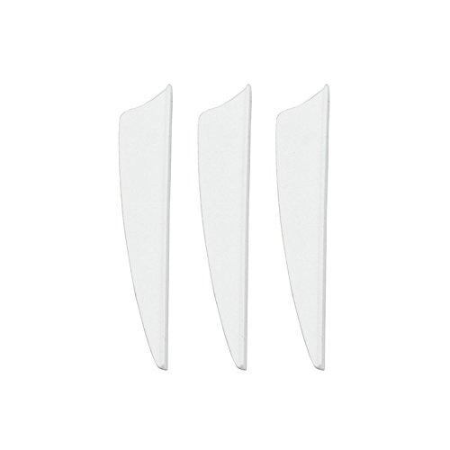 100Pcs 3 inch Shield Plastic White Arrow TPU Fletching Vane Archery Bow For Hunting