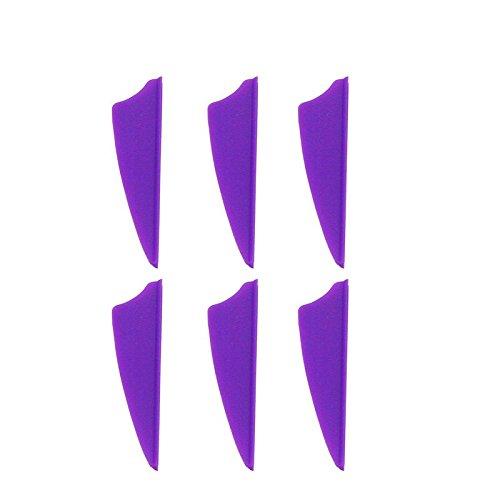 100pcs 2 Shield Plastic Purple Arrow TPU Fletching Vane Archery Bow For Hunting