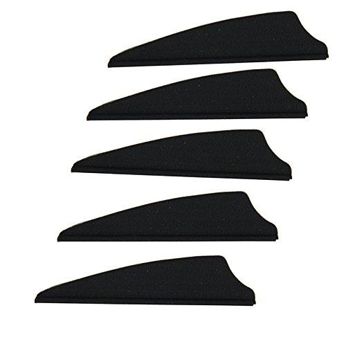 2 Shield Arrow TPU Fletching Vane Archery Bow For Hunting Black 100 Pack
