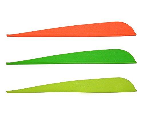Arrow Fletching Vanes 5 Plastic Archery Fletches for Crossbow Plastifletch Vanes 3 Color Mixed Random Color 100pcs