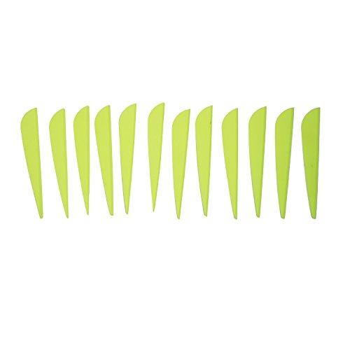 Safari Choice Arrow Fletching 3 Plastic Feather Vane 15pc pack Neon Yellow