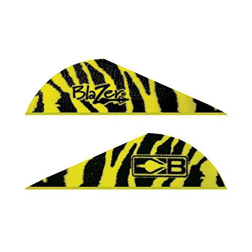Bohning Blazer Tiger Archery Vane 100-Pack Yellow