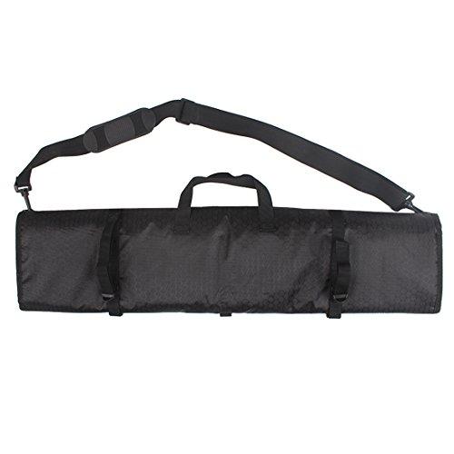 XTACER Recurve Takedown Bow Rolled-Up Case Fully Padded Case with Arrow Tube Holder Adjustable Shoulder Strap BLACK