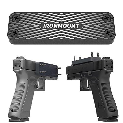 Magnetic Gun Holster - IronMount Rubber Coated 43 Lbs Rated Gun Magnet Mount - Concealed Holder for Handgun Rifle Shotgun Pistol Revolver
