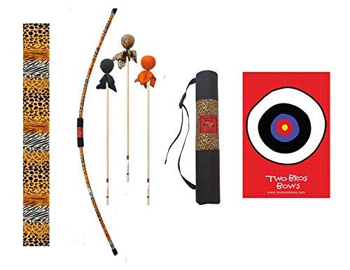 Two Bros Bows Safari Archery Combo Set Kids Bow and Arrow Toy Bow and Arrow Bow and Arrow Archery Set for Kids