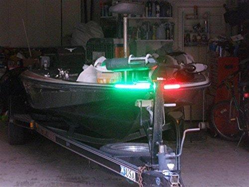 Green Blob Outdoors Boat Bow LED Navigation Light Kit Red Green Strips for Bass boats Pontoon Ski Canoes Kayaks Triton Ranger BassCat Nitro Tracker Marine Legend Skeeter Sun Tracker