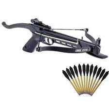 VikingActive 80 lbs Hunting Target Self Cocking Cobra Pistol Crossbow w 15 Aluminum Arrows -Body Hard Plastic  Fiberglass- 15 Arrows
