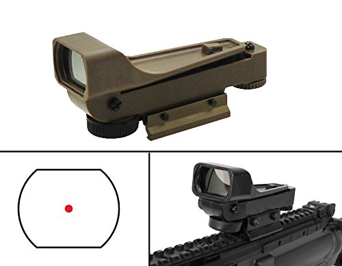 Ultimate Arms Gear Polymer Reticle Red Dot Open Tubeless Reflex Scope Sight Weaver-Picatinny Dovetail Mount Adapter Rail FDE Tan for Carbon Express Crossbow