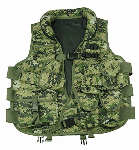Ultimate Arms Gear Woodland Digital Camouflage Tactical Vest with Soft Collar For Kel-tec Keltec Pistol Handgun