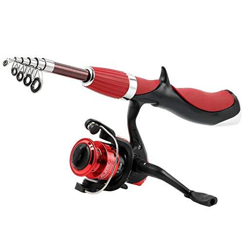 ADPTT Fishing Rod Fiber Rod Superhard Boat Ice Fly Lure Fishing Rod Reel Combo Fishing Tackle Set