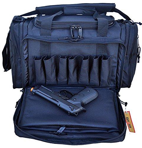 EXPLORER Large Padded Deluxe Tactical Range Bag - Rangemaster Gear Bag Black