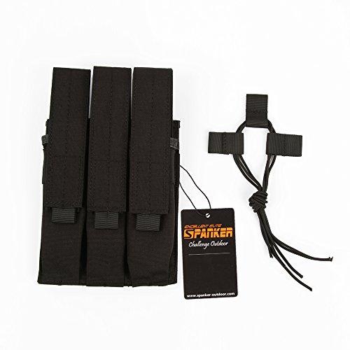 Excellent Elite Spanker Tactical KRISS MA31 P90 UMP45 Triple Mag PouchBlack