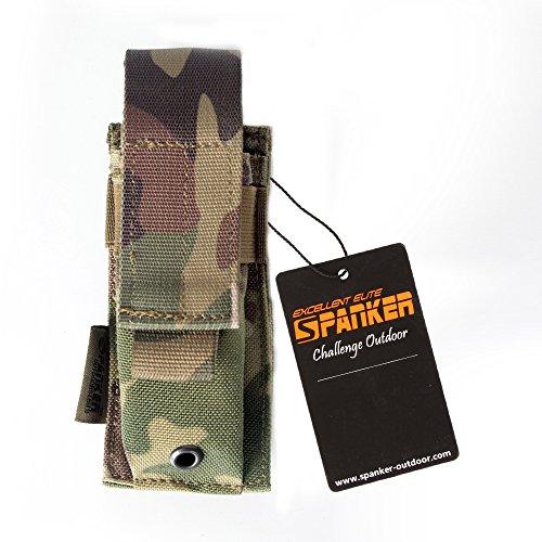 Excellent Elite Spanker Tactical Nylon MOLLE Single Pistol Mag PouchMulticam