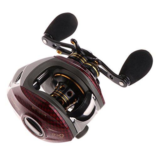 BetterM 18 Ball Bearing High Spinning Left Right Fishing Reel  Metal Nylon Saltwater Freshwater Fish Reel Right