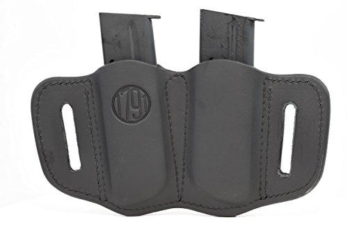 1791 Gunleather Double Mag Holster OWB Magazine Holster for belts Stealth Black