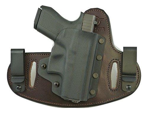 Hidden Hybrid Holsters Glock 43 9mm - Concealed Carry Gun Holster BlackBrown RH
