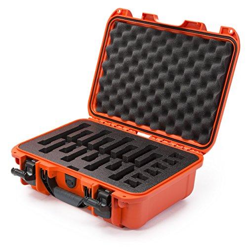 Nanuk 920 Waterproof Professional Gun Case with Foam Insert for Uni Mag Orange