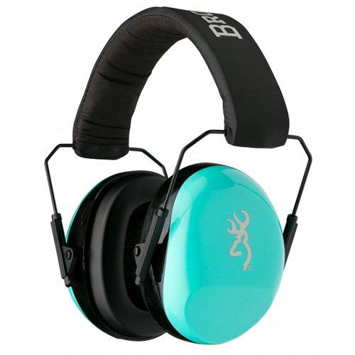 Browning 126356 Hearing Protector Buckmark for Her Aqua
