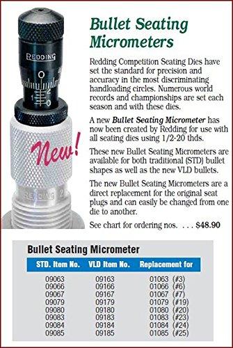 Redding VLD Bullet Seating Micrometer 9185 17 Remington 204 Ruger 22 Hornet