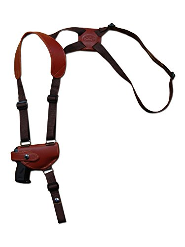 New Barsony Burgundy Leather Shoulder Holster for Bryco 32 380 Sigma 380 left