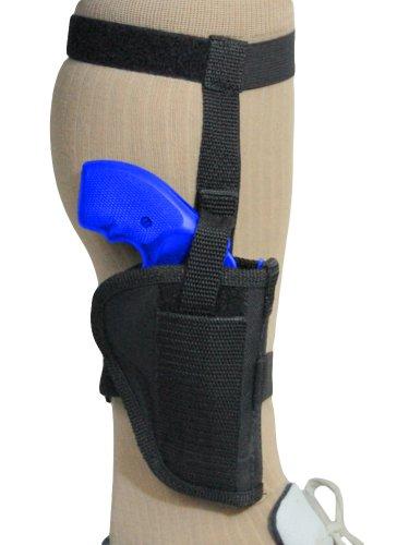 Barsony Black Nylon Ankle Holster for COLT DETECTIVE SPL right