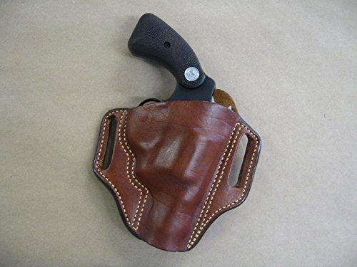 Colt Detective Special 6 Shot Revolver Leather 2 Slot Pancake Belt Holster CCW TAN RH