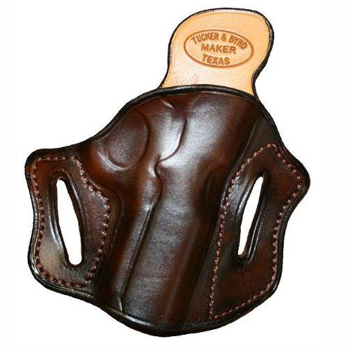 Right Hand - Tucker Byrd Leather Full Pancake Belt Holster - Bond Arms Snake Slayer IV - Dark Brown