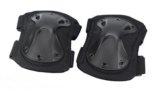 DLP Tactical X-CAP Quick Release Ergonomic Elbow Pads Black